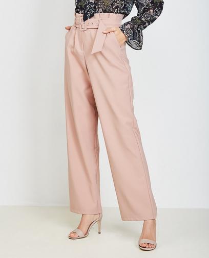 Oudroze soepele broek